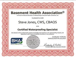 BHA Certified Waterproofing Specialist